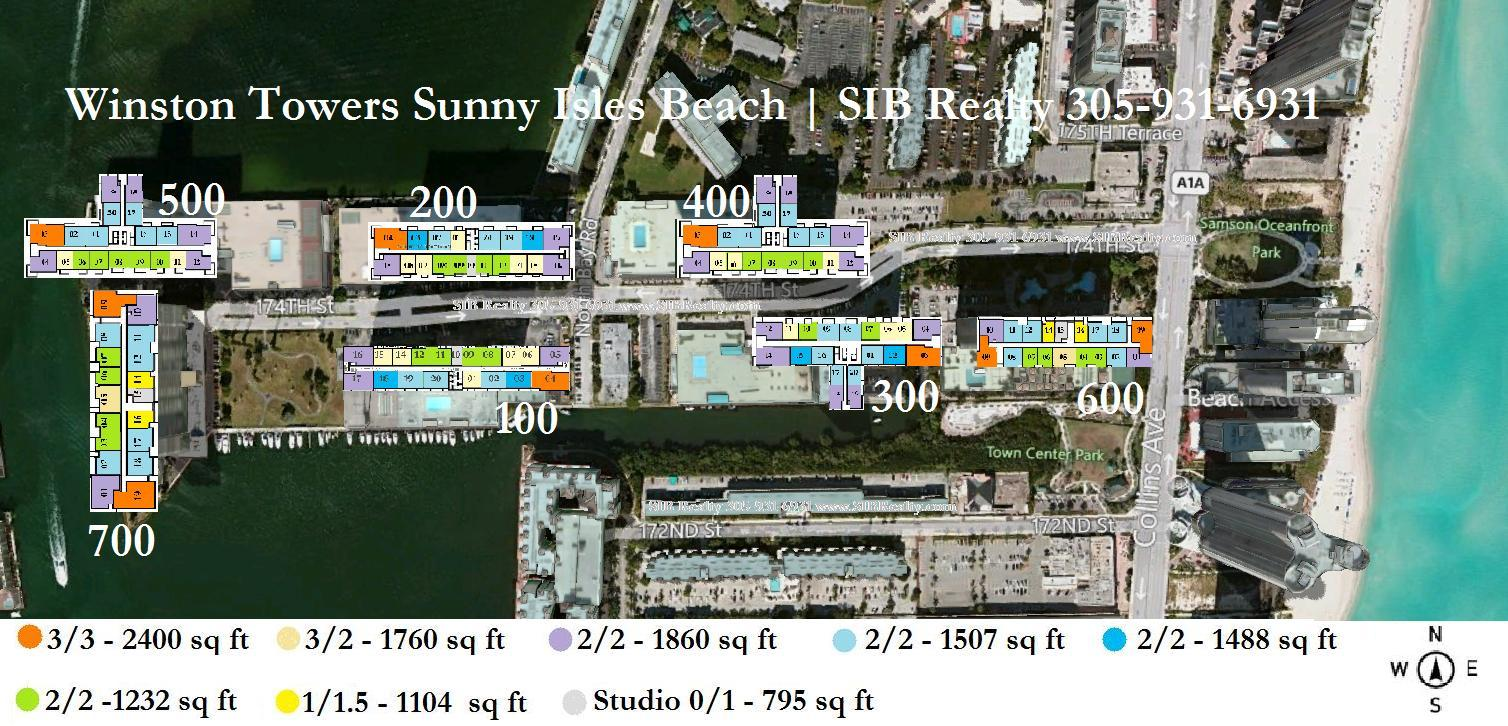 Site Plan Winston Towers Sunny Isles Beach