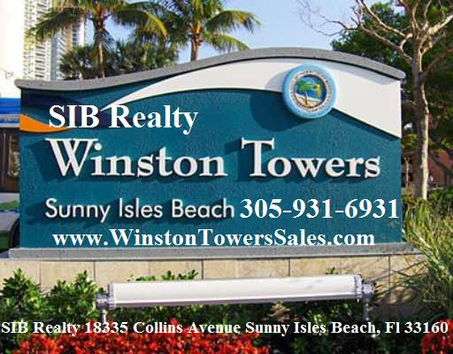 Winston Towers Sunny Isles Beach. We live and work in Sunny Isles. Planning to Sell, to Buy, to Rent a condo at Winston Towers? Allow us to help you.  Call our Winston Towers Specialist  for free consultation. 305-931-6931 SIB Realty and Evelina Tsigelnitskaya are Winston Towers Condo Experts